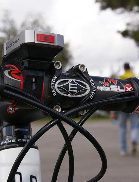 Easton also provides Nydam's EC90 Equipe SLX3 bar and EA90 stem.