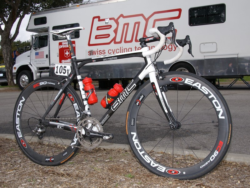 Scott Nydam put in a gutsy performance at the Tour of California aboard the BMC SLC01 Pro Machine.
