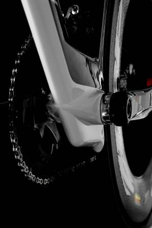 Speed Skeg BB shell design is claimed to clean up airflow and redirect air around the rear wheel.