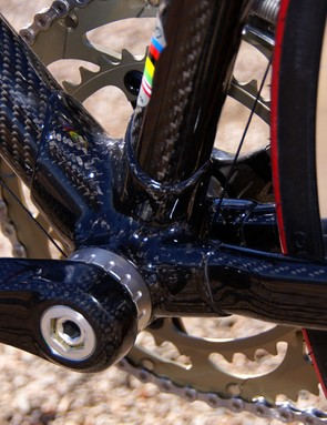 Similarly, the bottom bracket lug looks positively spindly in comparison to some other modern rigs but is still beefy enough for all-out racing.