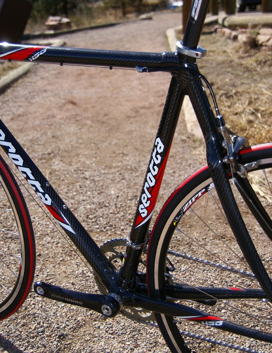 The Colorado Concept Torsion Core tubing recalls the ingenuity used in Serotta's steel frames of yore with aggressively tapered and butted tubing.