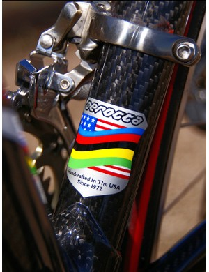With so many carbon frames built overseas, the 'made in the USA' badge is becoming increasingly rare indeed.