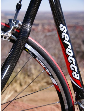 The Zipp Team CSC clinchers strike a good balance between a racing and training wheelset.
