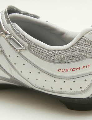The SH-R220 shoes use heat moldable materials only in the rear section for customizable heel hold.