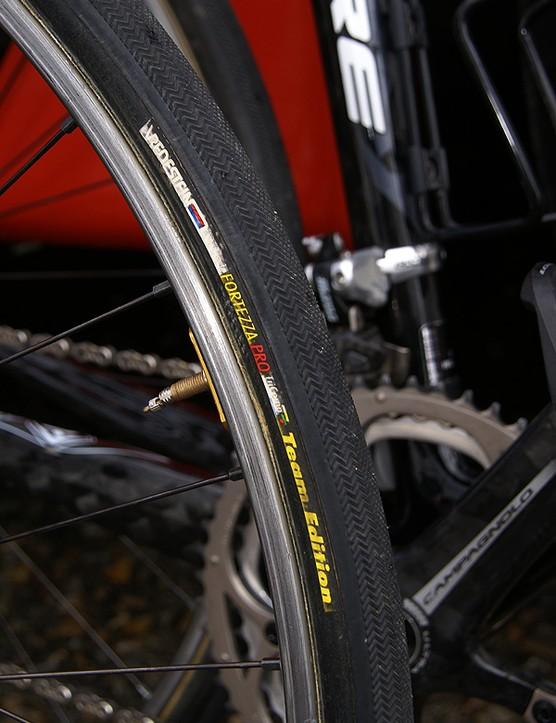Dugast tyres are fairly common at Paris-Roubaix