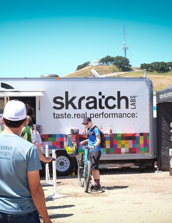 Skratch was on hand to keep Sea Otter attendees hydrated and fed