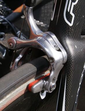 Corima carbon-specific brake pads are still a popular choice among the pro peloton.