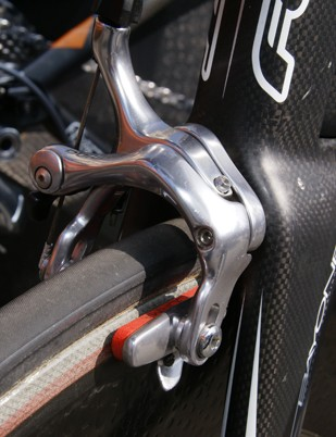 Corima carbon-specific brake pads are still a popular choice among the pro peloton.
