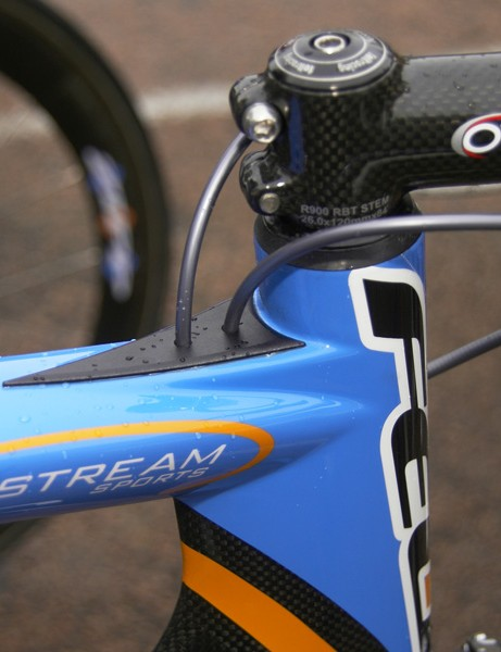 Derailleur housings are fed into the top tube right behind the stem where the air is already 'dirty'.