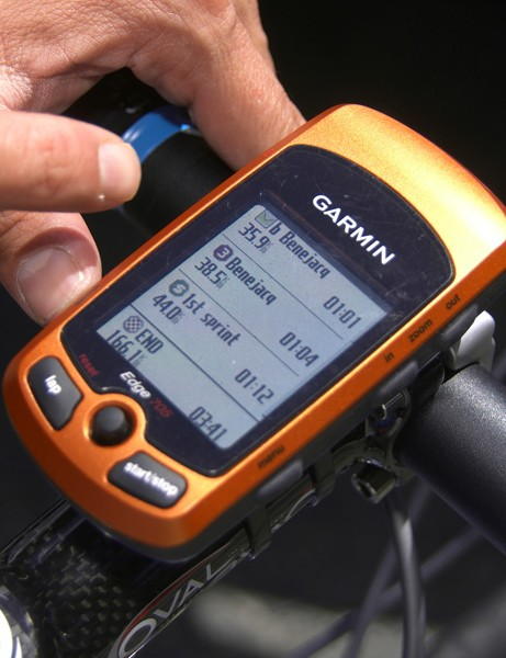 Every Garmin-Chipotle rider was fitted with a new Edge 705 GPS computer that was preloaded with the entire course profile for each stage.