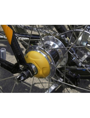 The team also had the latest PowerTap rear hubs which are now compatible with the ANT+Sport wireless protocol.