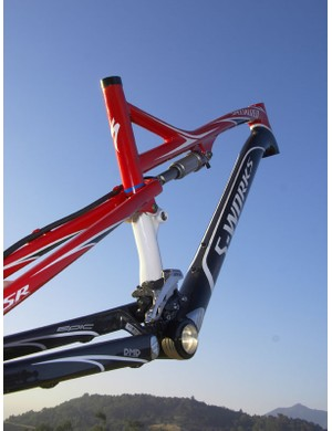 The lower-slung frame provides more standover clearance than before.