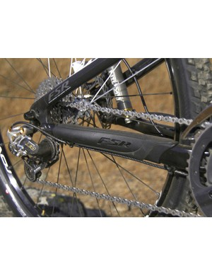 The carbon chain stay is protected by a new molded rubber bit that keeps things quiet, too.