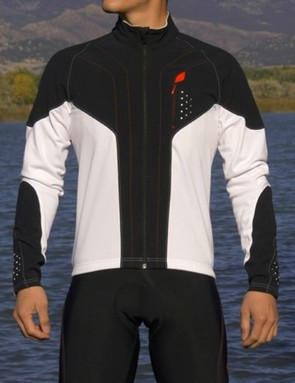 Soft shell panels on the front of Specialized's Eureka Element jersey help protect from biting wind