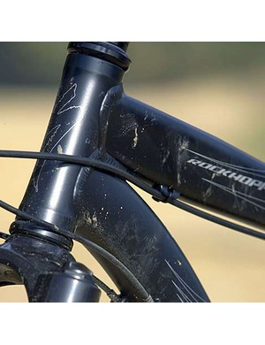 The new Rockhopper frame is a tubeshaping showpiece for a budget bike.