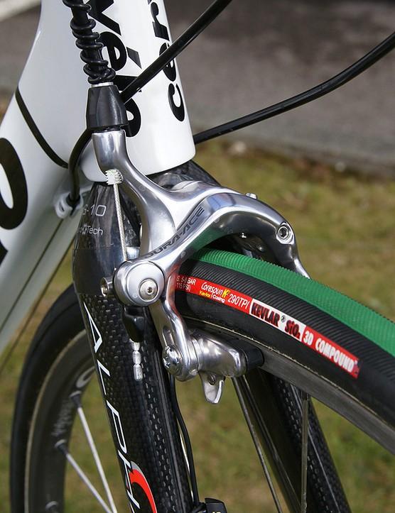 Standard Dura-Ace brake callipers front…