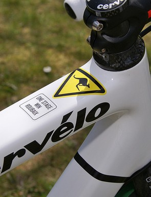 Not many riders get to wear this decal on their top tube. This one had to be earned the hard way.