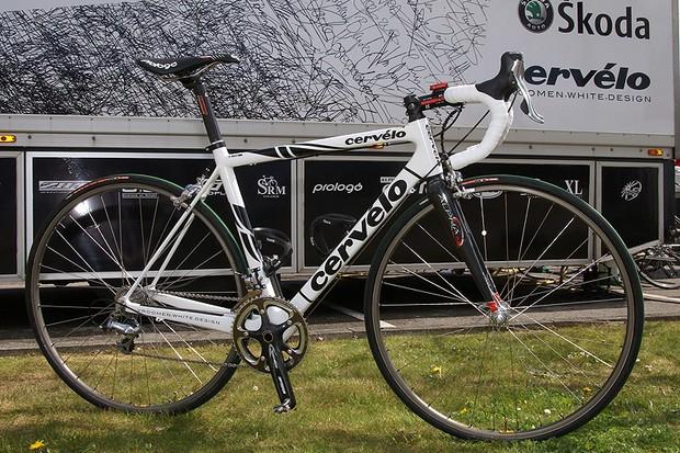 Stuart O'Grady's Paris-Roubaix bike was a specially built Cervélo R3, very similar to last year's