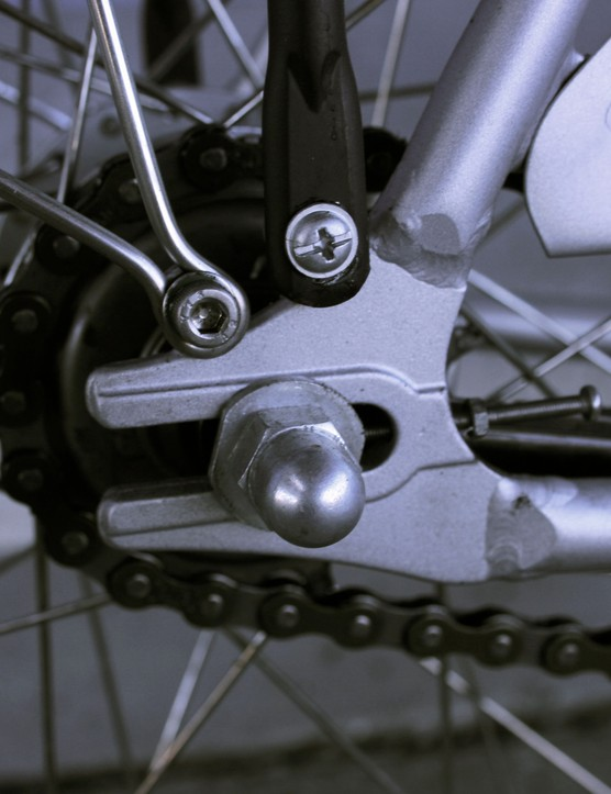 Track dropouts and double eyelets for extra duty.