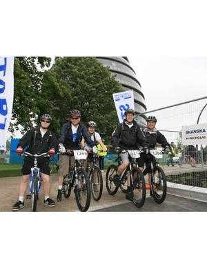 The start of the Thames Bridge Bike Ride