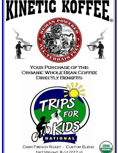 Custom label for fundraising coffee at Sea Otter.