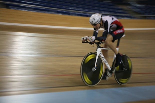Taylor Phinney en route to a world record.