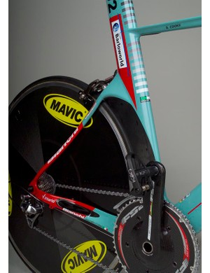 The down tube, seat tube and chain stays are all oversized.