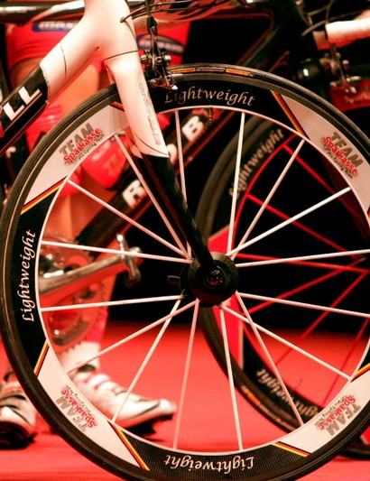 Sparkasse is a German domestic team that undoubtedly rolls on the fanciest wheels in its peloton.