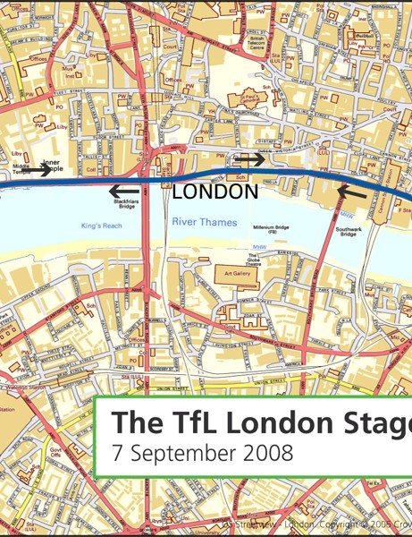 The London stage of the 2008 Tour of Britain
