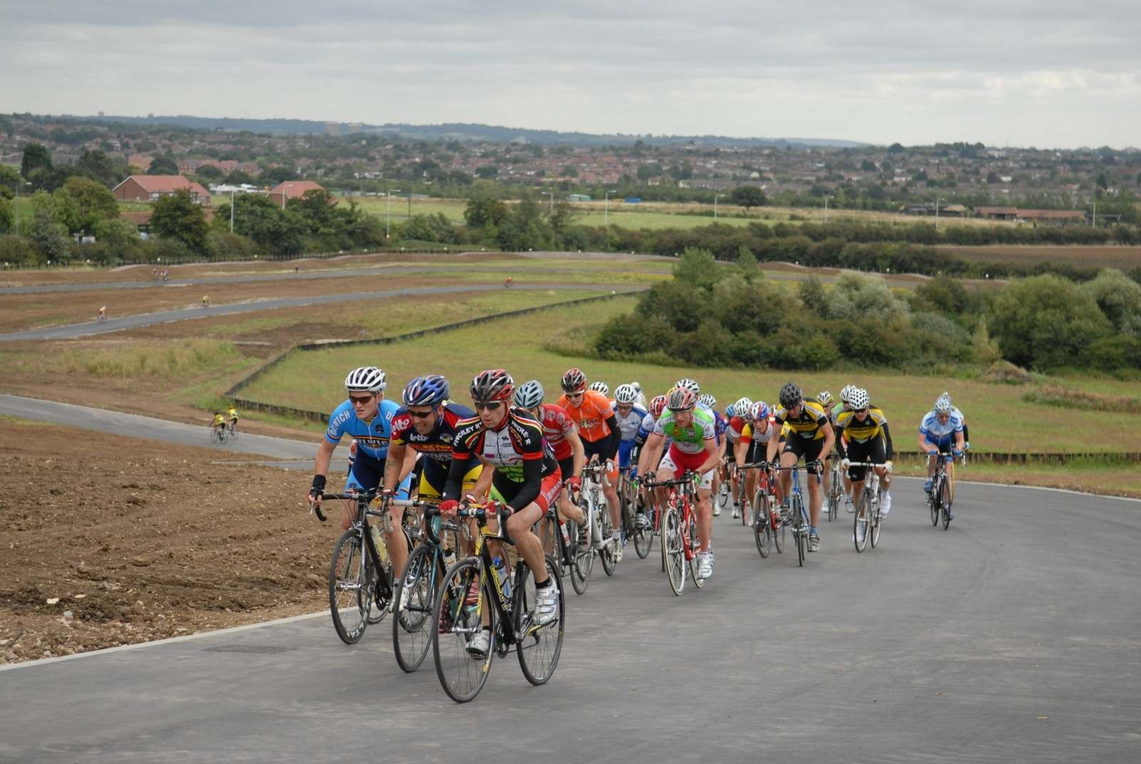 The climb - most of riders needed to use their small chainrings!