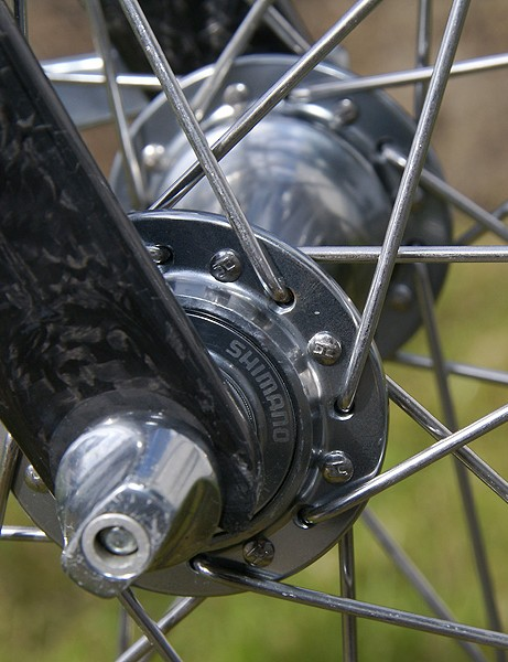With straight guage spokes, Hushovd's wheels were even more conservative than most