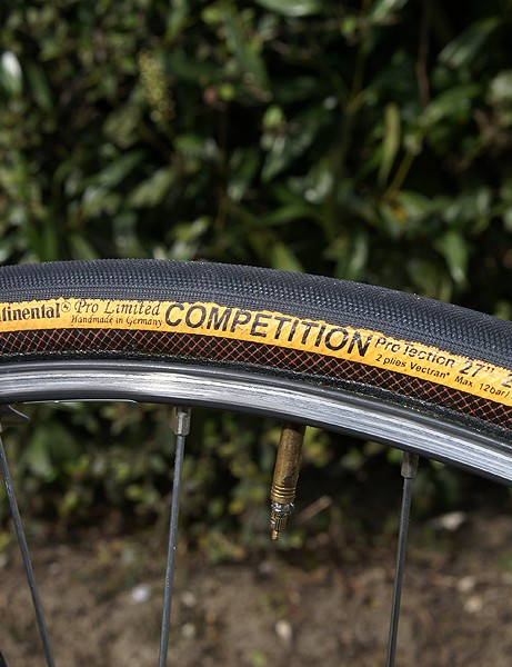 The Continental Pro Limited Competition ProTection tubulars with beefy 25mm profile