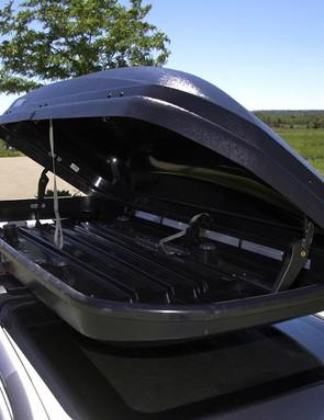 The capacious interior swallows a surprising amount of gear.