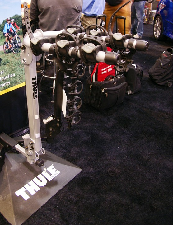 Thule's new Helium uses aluminum construction to strip roughly 50 percent of the weight of conventional steel bike racks