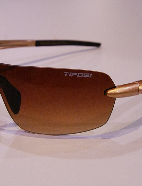 The Tifosi Vogel uses a single shield-type lens for plenty of coverage on the bike and lots of style off of it