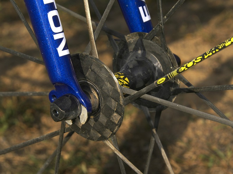 The carbon hub shell and carbon spokes are all joined together