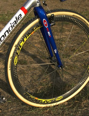 The Mavic Cosmic Carbone Ultimate wheelset is lightweight and stiff for speed and the deep profile cuts through mud and sand