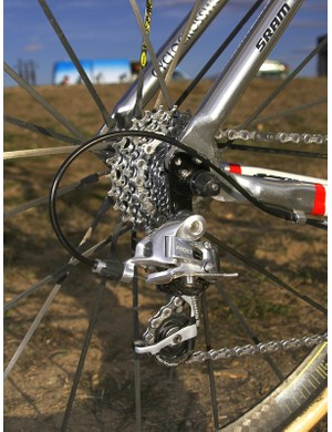 The more positive feel of SRAM's Red group is just the thing for the rigours of 'cross racing