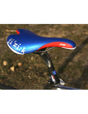 Even the fi'zi:k Aliante saddle and Control Tech seatpost are finished to match