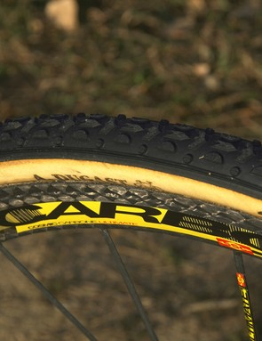 Johnsons ran 34mm Dugast tubulars front and rear for Boulder's bumpy and hardpacked course