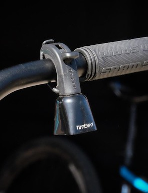 While there are a lot of bicycle bells on the market, this one is intended to ring as you ride to alert people and wildlife to your presence. The Timber bell retails for $20
