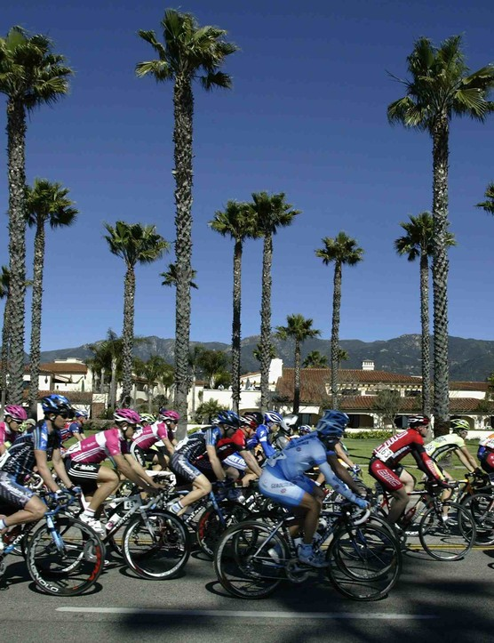 Palm trees and sunshine await the 2009 Tour of California racers.