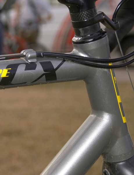 GT opts for the integrated approach for the Type CX head tube
