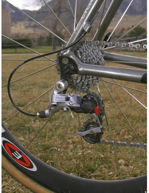 The Red group's strong shift lever clicks and snappy derailleur springs are well suited to 'cross