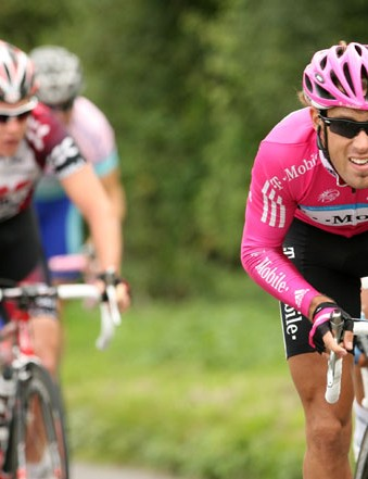 T-Mobile's Frantisek Rabon attacks at the top of White Hill to take max points  and go  into the lea