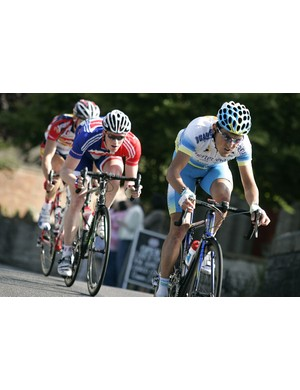 Fuerteventura  go on the attach at Burrow Bridge with Britain's Ed Clancy in tow