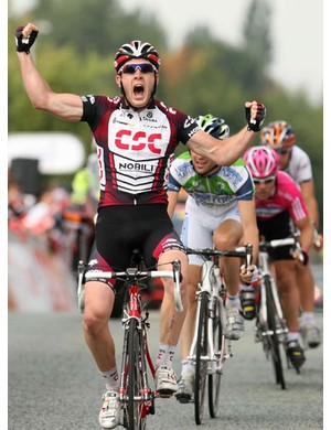 Matt Goss, more than a little pleased with his first pro win