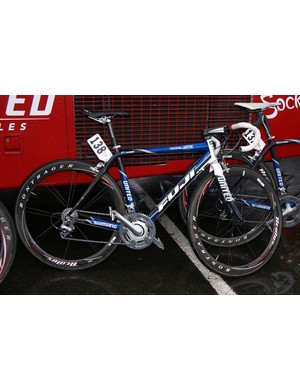 Toyota-United is on Fuji bikes this year and most of the team uses the company's SL1c carbon model.