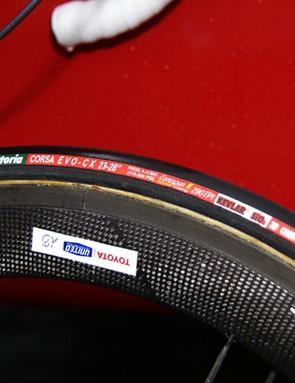 Some Toyota-United riders were on tubulars…
