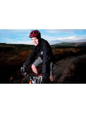 Ian Jones on the `red' mountain bike route at Kielder